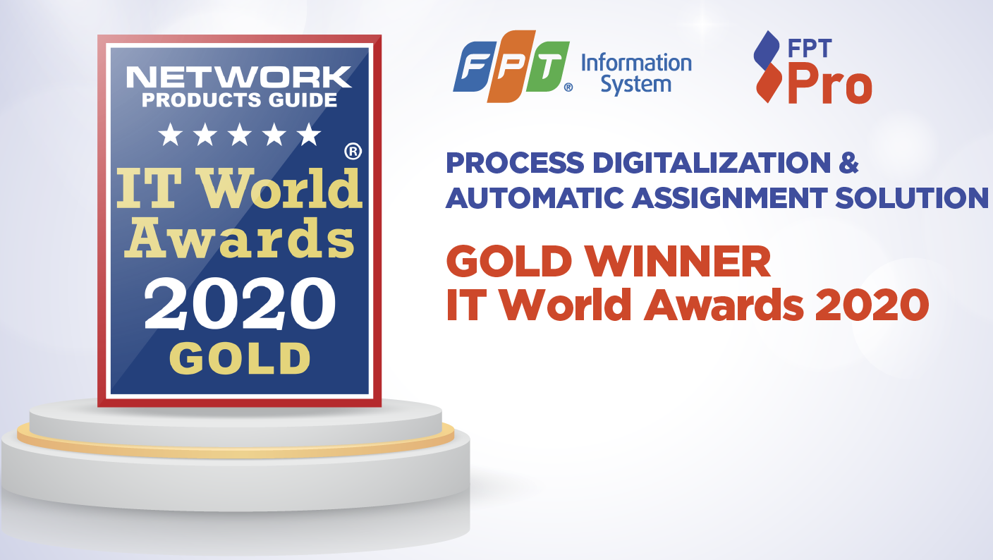 FPT SPro becomes Gold Winner at IT World Awards 2020